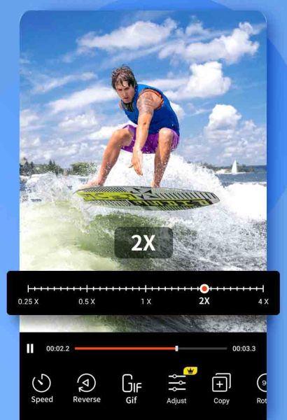 إضافة تأثير الحركة السريعة والحركة البطيئة على تطبيق فيديو شو اندرويد