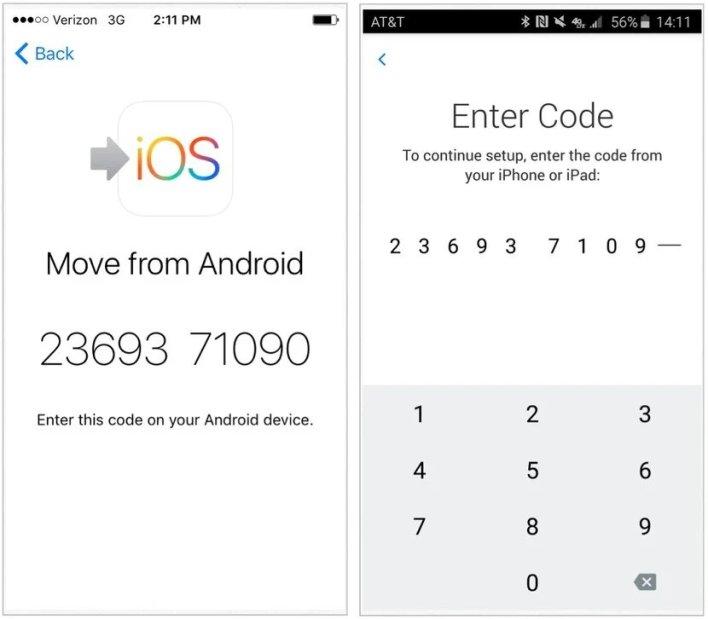 البيانات من اندرويد إلى ايفون من خلال تطبيق Move to iOS 4