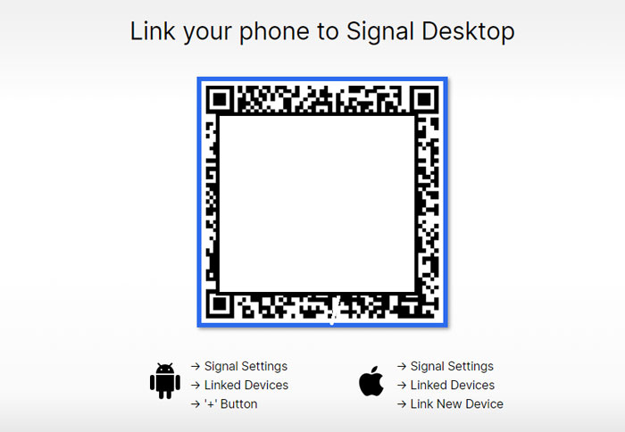How to Link your phone to Signal Desktop 4