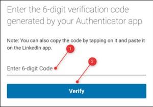 كتابة كود الخاص بتطبيق المصادثة ثم الضغط على Verify