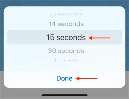 تحديد الوقت الذي ستختفي الرسائل مباشرةً بعد الانتهاء منه