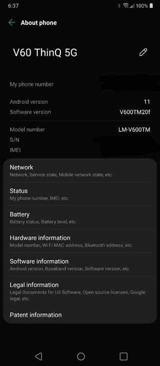 lg v60 thinq 5g android 11 t mobile usa