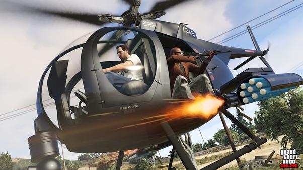 شفرات جاتا v الهليكوبتر