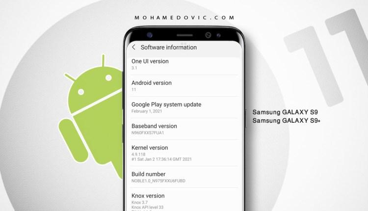 تحديث اندرويد 11 One UI 3.1 لهاتف سامسونج S9