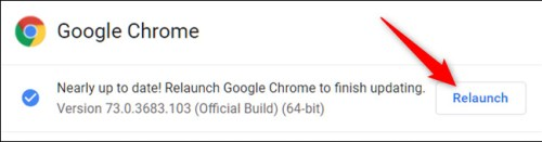 تحديث متصفح جوجل كروم