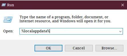 حذف ملفات التطبيقات في ويندوز 10