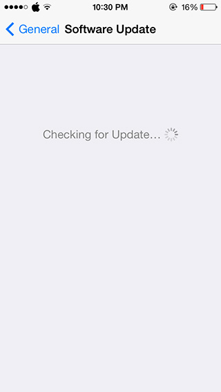 iphone checking for updates