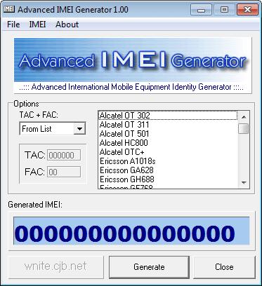 أداة Advanced IMEI Generator - مولد IMEI