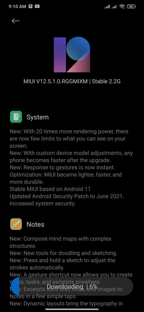 Android 11 for Xiaomi Redmi Note 8 with MIUI 12.5