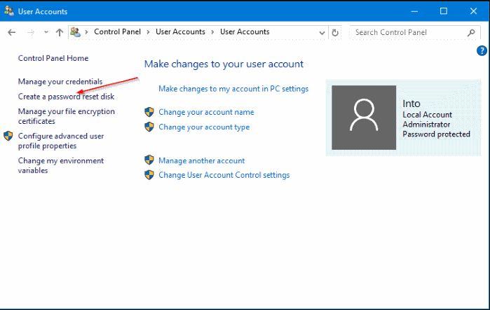 نسخة احتياطية من بيانات الدخول في Windows 10 وحفظها على وحدة تخزين خارجية USB