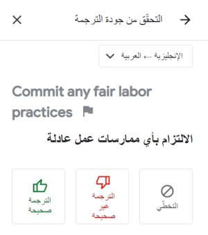 التحقق من صحة جودة الترجمة