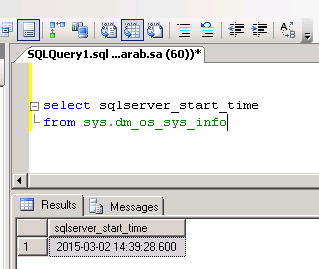 How to Find Last Time SQL Server Restarted