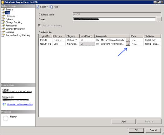 Database Properties Files