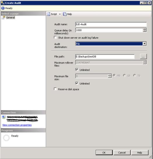 Create Database Audit 2