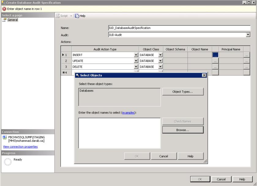 Create Database Audit 4