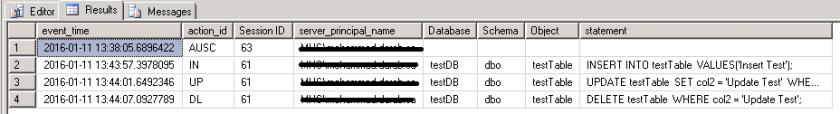 Create Database Audit 8