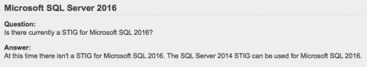 How To STIG SQL Server 2016