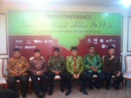 Press conference halal bi halal akbar 1437 H bersama ketum ICMI bpk. Prof. Jimly Asshiddiqie. Di gedung Balai Sudirman Jakarta. (27/7)