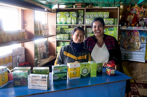 The quaint sikkimese tea-seller