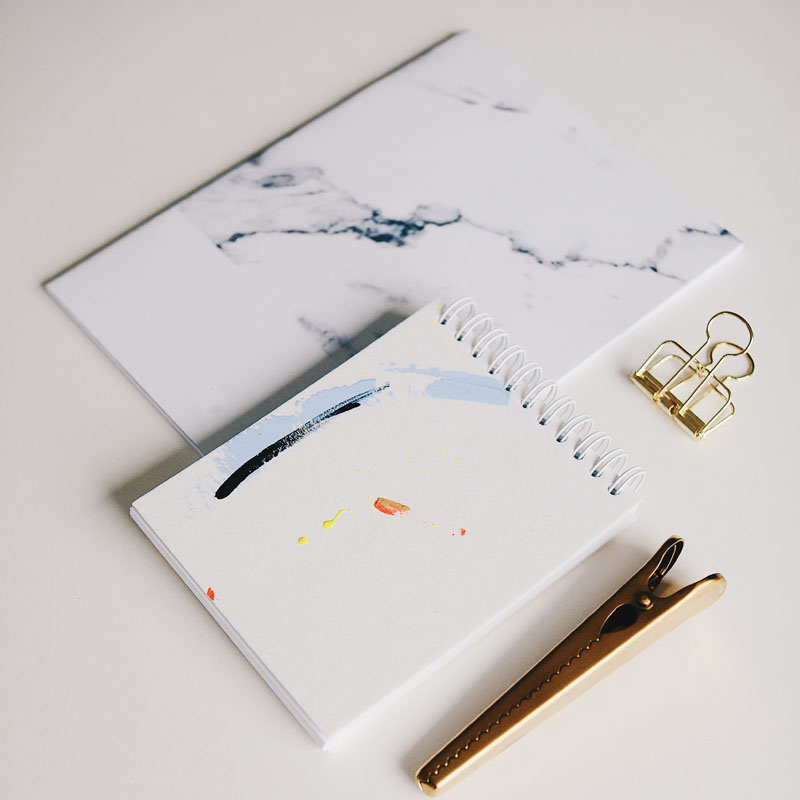 design studio carnets notebook peinture idee inspiration marbre