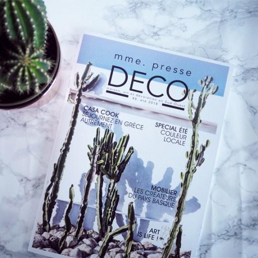 madame presse deco biarritz magazine spécialisée art maison décoration haut de gamme luxe sud ouest vacances été summer 2018
