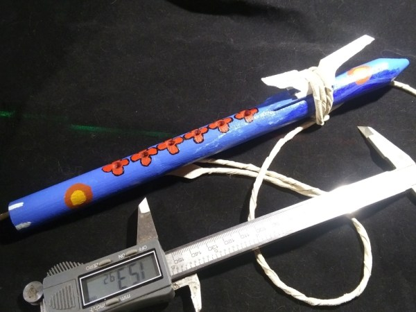 Native American Style Flute 3d printed and painted walk about
