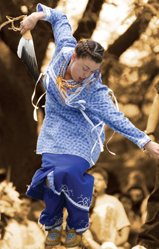 "A ""Smoke Dancing"" Iroquois woman!"