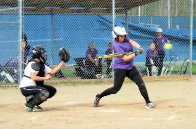 Allie Krohn at bat