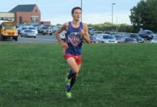 Alex Hitrick wins the boy's race