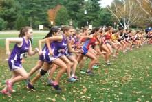 Start of varsity girls race