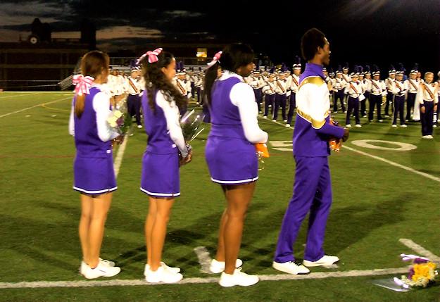 AHS Senior Cheerleaders. Photo by Scott Mulford.