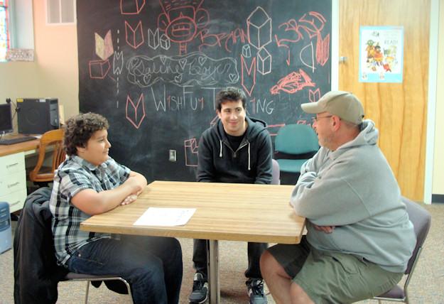 Jonas Barkevitch (age 11), Jeremy Yaches (executive producer), and Keith Barkevitch