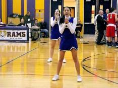 AHS cheerleaders perform at halftime