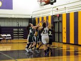Giuliana Pritchard #23 battling for a rebound