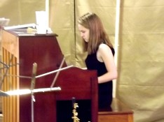 Avery Cook on piano