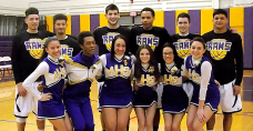 AHS senior players and cheerleaders