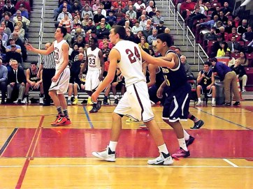 Jame Valentin #15 guarding #24 Joe Cremo