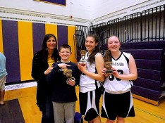 Amsterdam X-Plosion MVP Giuliana Pritchard (center), with her mom, brother, and Taylor Fint
