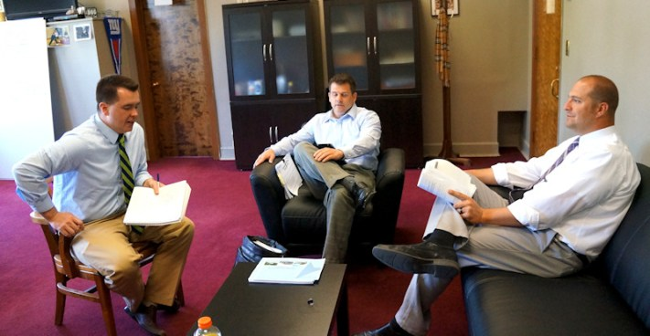 Andrew Santillo, Communications Specialist, Ken Rose, MCBC CEO, Matt Ossenfort, County Executive