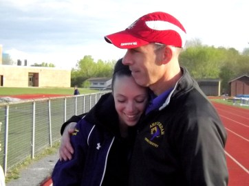 McKenna and her dad , Coach Stu Palczak