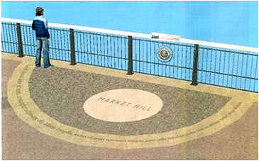 """How """"railing markers"""" will appear on the bridge"""