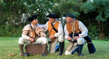 De Fazio as Gil Martin, Jeffrey as General Herkimer, and Joseph Kivlen as Han Yost Schuyler