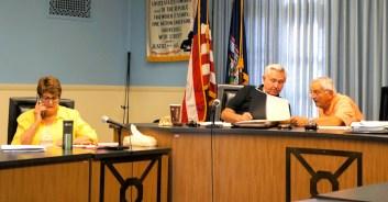 "Fourth Ward Alderwoman Diane Hatzenbuhler, ""ad-hoc"" committee members David Dybas, Mario Villa. Photo by Tim Becker."