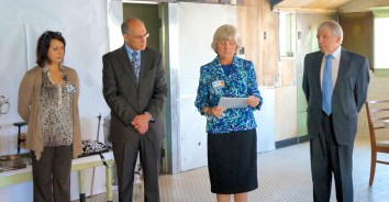 Brigitta Giulianelli, Director of Community Benefits and Outreach, Victor Giulianelli, Chief Executive Officer, Sr. Joan Mary Hartigan , Vice President of Mission Integration, St. Mary's Healthcare, Carmel Greco, board member of Carmel's Free Diner Inc.