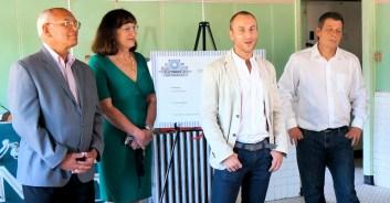 Congressman Paul Tonko, Mayor Ann Thane, Founder Dave De Fazio, Founder Mike Burbank