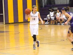 Lucia Liverio bringing the ball up court