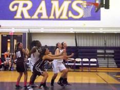 Battling for a rebound