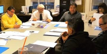 AIDA members (clockwise) - Joe Emanuele, board member, Jody Zakrevsky, director, Pat Baia, board member and chairman, Mike McCabe, board member, Jerry Gallup, board member. Photo by Tim Becker.