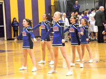 BPHS cheerleaders entertain the crowd
