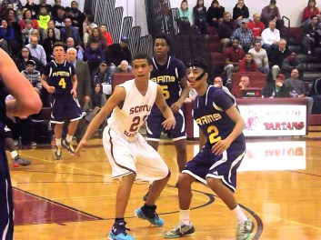 Anthony Aponte #2 guarded by Sean DeGraffenreid